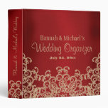 Red and Gold Indian Style Wedding Organizer 3 Ring Binders