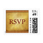 Red and Gold Las Vegas Postage Stamps