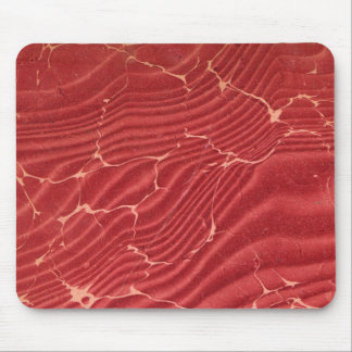 Red and Gold Marbled Endpaper Mouse Pad