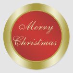 Red and Gold Merry Christmas Stickers