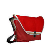 Red and Gold Messenger Bag