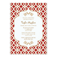 Red and Gold Moroccan Bridal Shower Invites (<em>$2.16</em>)