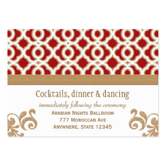 Red and Gold Moroccan Reception Enclosure Card Pack Of Chubby Business Cards