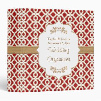 Red and Gold Moroccan Wedding Organizer 3 Ring Binder