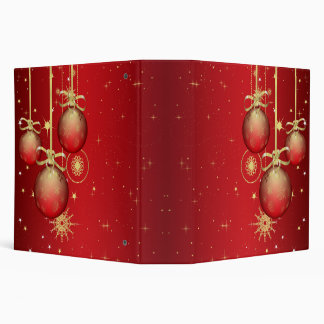 red and gold ornaments notebook 3 ring binders