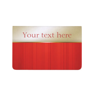 Red and Gold Personalized Pocket Journal