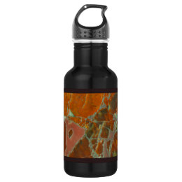 Red and Gold Petrified Wood Water Bottle