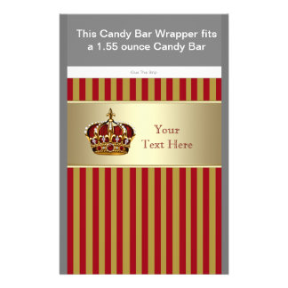 Red and Gold Prince Baby Shower Candy Bar Wrapper Flyer
