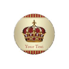 Red and Gold Prince Baby Shower Candy Candy Tins at Zazzle