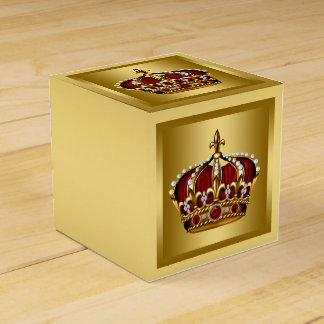 Red and Gold Prince Favor Boxes