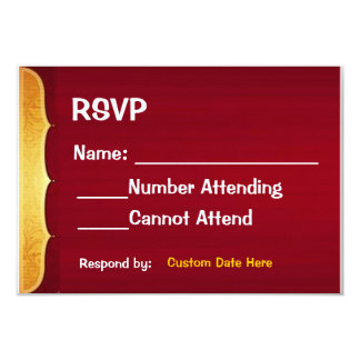 Red and Gold RSVP Card