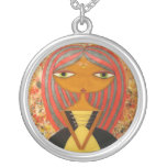 """""""Red and Gold"""" Silver-Plated Necklace!"""