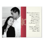 Red and Gold Snowflake Wedding Engagement Invitation