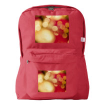 Red and Gold Sparkles Backpack