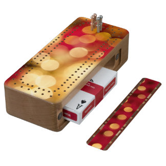 Red and Gold Sparkles Cribbage Board