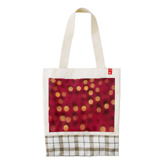 Red and Gold Sparkles Zazzle HEART Tote Bag
