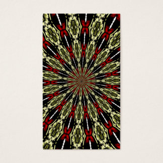 Red and Gold Stained Glass Window Kaleidoscope Business Card