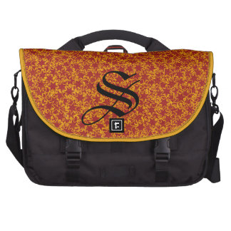 Red and Gold Star Team Spirit Sports Colors Laptop Commuter Bag