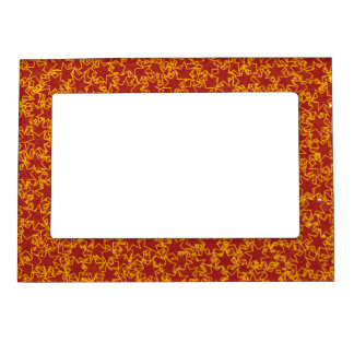 Red and Gold Star Team Spirit Sports Colors Magnetic Picture Frame