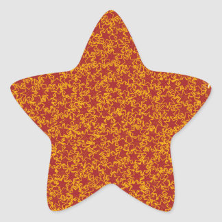 Red and Gold Star Team Spirit Sports Colors Star Sticker