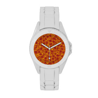Red and Gold Star Team Spirit Sports Colors Watch