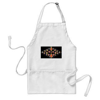 red and gold stars.jpg adult apron