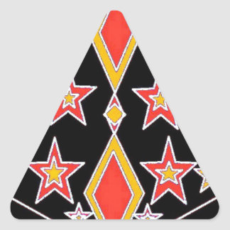 red and gold stars.jpg triangle sticker