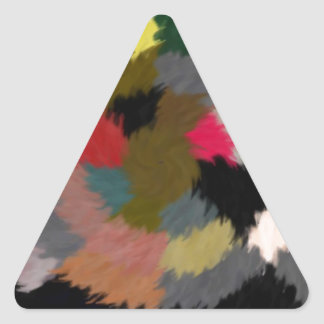 red and gold stars target 2.jpg triangle sticker