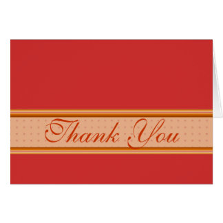 Red and gold stripe thank you card