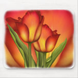 Red and Gold Tulips Mouse Pad