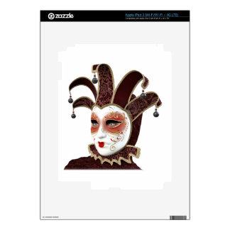 Red and Gold Venetian Carnivale Mask iPad 3 Decal