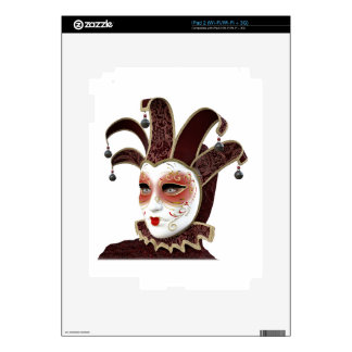 Red and Gold Venetian Carnivale Mask Skins For iPad 2