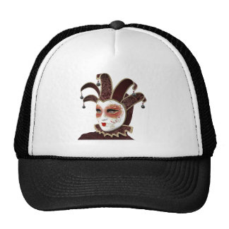 Red and Gold Venetian Carnivale Mask Trucker Hat