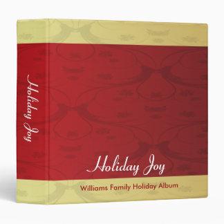 Red and Gold Vintage Holiday Joy Binder