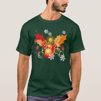 Red and Gold Xmas Berries Christmas T-Shirt