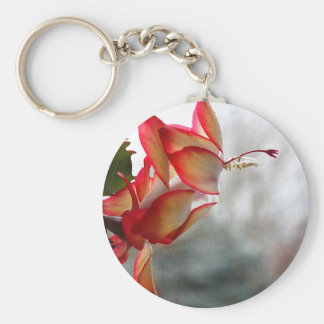 Red and Golde Christmas Cactus Keychain