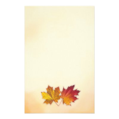 fall maple leaf border lined writing paper zazzle com