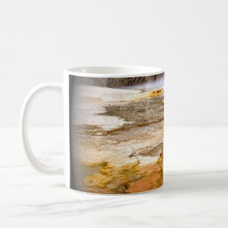 RED AND GOLDEN MINERAL DEPOSITS IN YELLOWSTONE COFFEE MUG