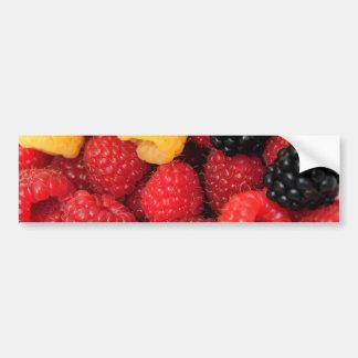 Red And Golden Raspberries Bumper Sticker