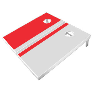 Red and Gray Add Your Logo Cornhole Set