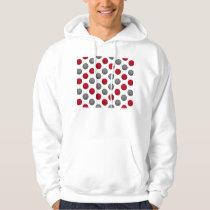 Red and Gray Basketball Pattern Hoodie