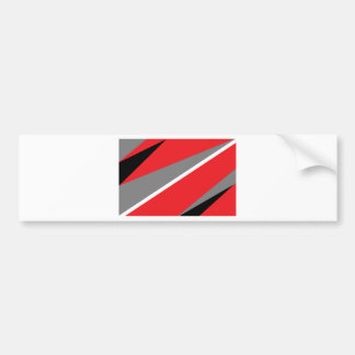 Red and gray bumper sticker