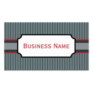 Red and Gray Business Card