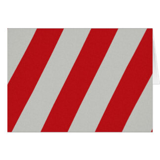 Red and Gray Candy Cane Diagonal Stripes Pattern Card