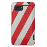 Red and Gray Candy Cane Diagonal Stripes Pattern HTC Vivid Case