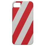 Red and Gray Candy Cane Diagonal Stripes Pattern iPhone 5 Case