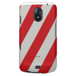 Red and Gray Candy Cane Diagonal Stripes Pattern Galaxy Nexus Cases