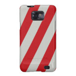 Red and Gray Candy Cane Diagonal Stripes Pattern Galaxy S2 Covers
