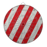 Red and Gray Candy Cane Diagonal Stripes Pattern Dart Board