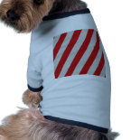 Red and Gray Candy Cane Diagonal Stripes Pattern Doggie T-shirt